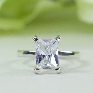 2.00 Ct. Radiant Cut Fine CZ Proposal Ring